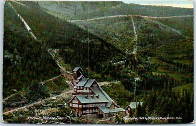 "1910s Burke, Idaho Postcard ""HERCULES MINE & TRAM"" Bird's-Eye View Silver Mining"