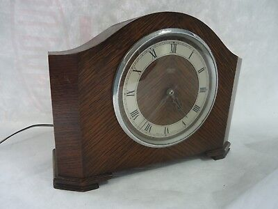 Vintage 1950's Smiths Sectric Westminster Chiming Mantle Clock. Spares Or Repair