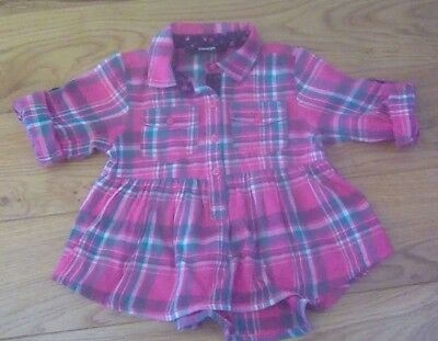 GEORGE pink checked shirt, age 18-24 months, excellent used condition