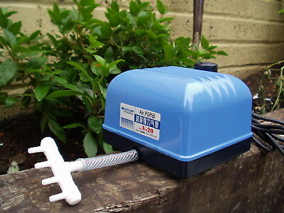 20 Litre Super Silent Air Pump For Ponds,koi,hydroponic Hailea V20