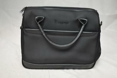 """BNWT Itluggage """"The Lite"""" Black Business Laptop Bag"""