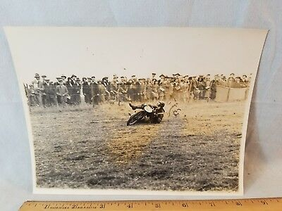 Orig 1931 Motorcycle Race Photo Kent Messenger England No.2 NO Reserve
