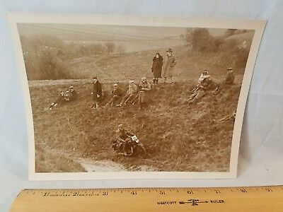 Orig 1930 Motorcycle Race Press Photo  England No. 6 Devils Horror NO Reserve