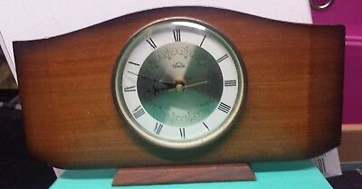 Vintage Smiths Timecal Wooden Mantel Clock -  Battery Collectable J3