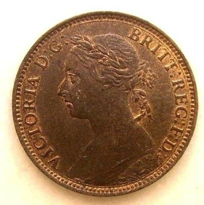 Great Britain Uk Coins, Farthing 1893, Victoria