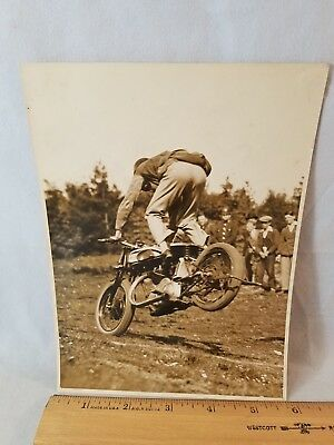 Orig 1930 Motorcycle Race Press Photo England No. 8 490 Cam Norton NO Reserve