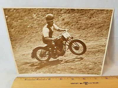 Orig 1930 Motorcycle Race Press Photo England No. 10 496 Cotton NO Reserve