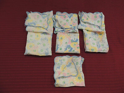 D. Porthault, Vintage, 4 Napkins, One With Label, Assorted Size, Made In France