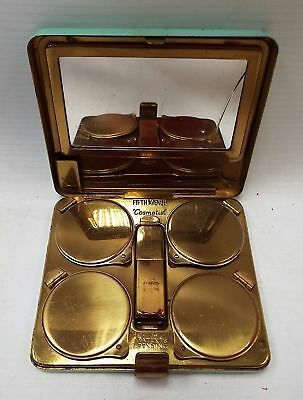 Vintage FIFTH AVENUE COSMETIST Multi Function Make-Up Mirror Compact - H07
