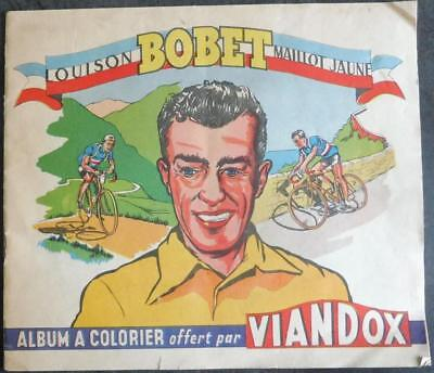 Album a colorier LOUISON BOBET Tour de FRANCE 1955 Cyclisme Viandox Velo