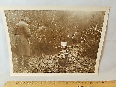 Orig 1930 Motorcycle Race Press Photo England No.14 G. Easton Calthorpe NR