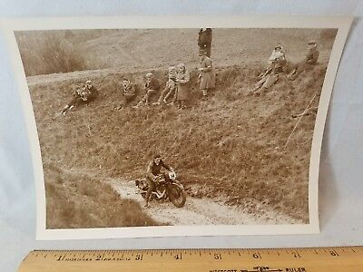 Orig 1930 Motorcycle Race Press Photo England No.16 SB Webb Cotton NO Reserve