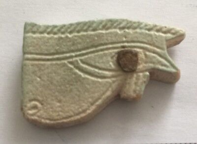 Ancient Egypt. Large Faience ''Eye Of Horus' Amulet. (Circa 600 B.c).