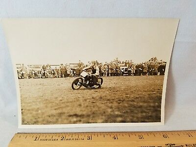 Orig 1930 Motorcycle Race Press Photo England No.20 #6 Sliding NO Reserve