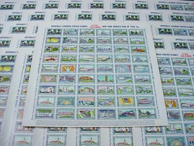 NobleSpirit NO RESERVE {3970}50x MNH 1939 NYC World's Fair Poster Stamp Sheets