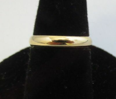 Size 11 14Kt Gold Ep  3Mm Smooth  Wedding Ring