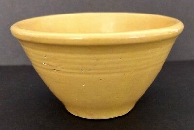 "Antique Yellow Ware Bowl Signed ""American"" 2 3/4"" Tall X 5 1/8"" In Diameter"