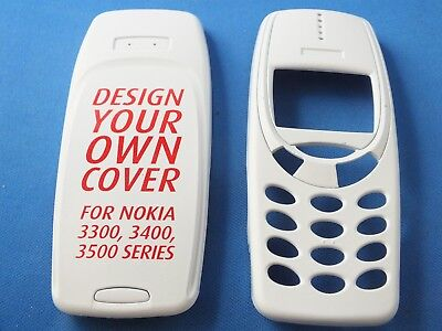 Front Back Cover f. Nokia Series 3300 3400 3500 3310 3330 Weiß White Handyschale