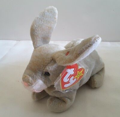 "Vintage Ty Beanie Baby ""NIBBLY"" Bunny 6"" New Mint TAGS +Tag Protect - FreeShip"