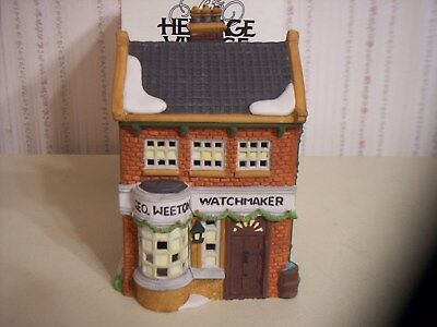 "Dept 56 Dickens Village ""geo Weeton Watchmaker"" Lighted Building"