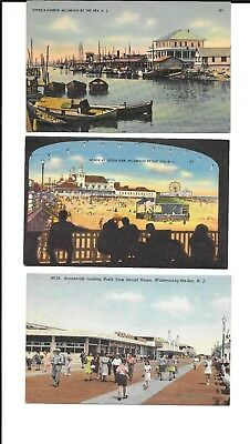 Vintage 3 Postcards Wildwood by the Sea NJ #5