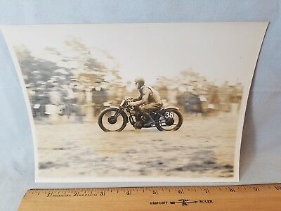 Orig 1931 Motorcycle Race Press Photo England No.22 Big Single Racing NO Reserve