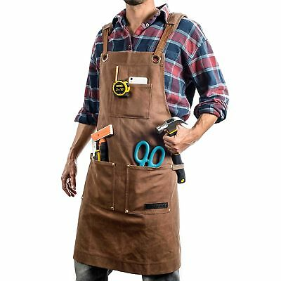 EVERPRIDE Waxed Canvas Work & Tool Apron (Heavy-Duty) All-Purpose Utility Cov...