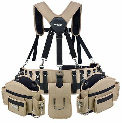 Professional Comfort-Rig Tool Belt With Suspenders (Adjustable System with 2-...