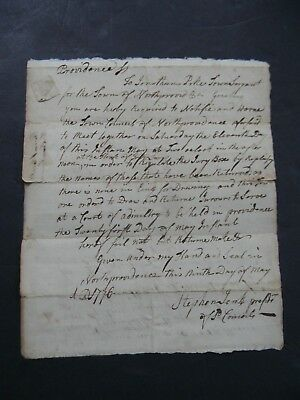 1776 American Revolutionary War Military Document Court Of The Admiralty