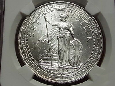 Great Britain.  1930-B Trade Dollar..  NGC MS62.. Full Lustre..  UNC/BU