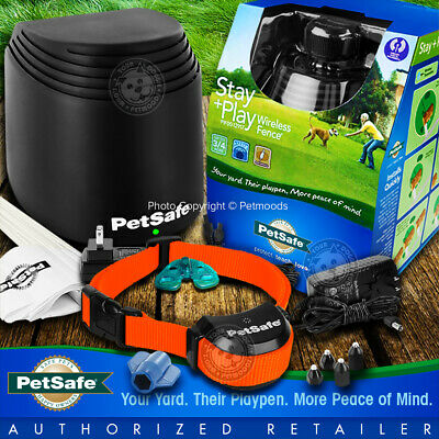 PetSafe Stay and Play Rechargeable Neon Orange Collar Wireless Fence PIF00-12917