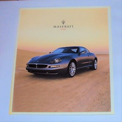 ORIGINAL 2003 MASERATI COUPE BROCHURE/BOOK 34 Color pages w/Specs, Italian Text