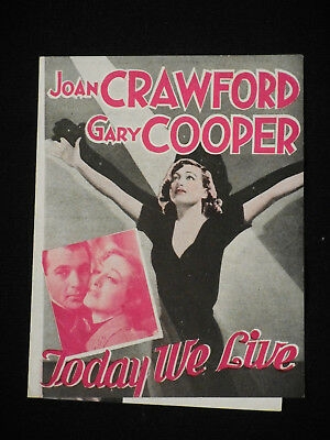 Today We Live 1933 * Joan Crawford * Gary Cooper * Howard Hawks Pre-Code Herald!