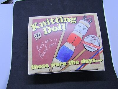 FRENCH KNITTING DOLL  Wooden with wool  Craft  Children's gift