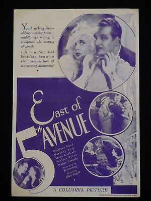 East Of 5Th Avenue 1933 * Wallace Ford * Dorothy Tree * Mary Carlisle * Pre-Code