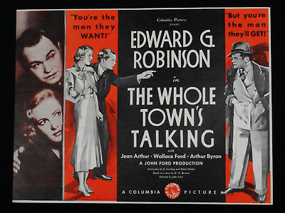 The Whole Town's Talking 1935 * Edward G. Robinson * Jean Arthur * John Ford!!