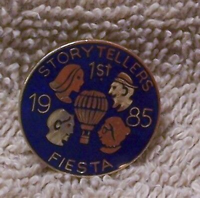 1985 1St Storytellers Fiesta Balloon Pin