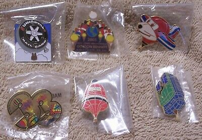 6 Balloon Pins Which Includes 2 Albuquerque Intl Balloon Fiesta Pins Lot #811805
