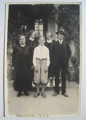 1934 Vintage Family Photo; Norwegian or Swedish Writing on Back; Norway? No ID