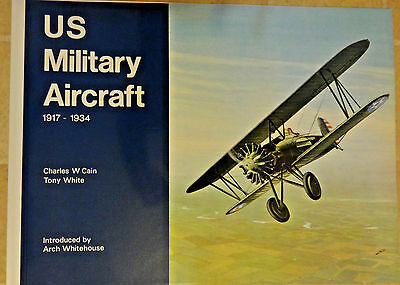 VTG. WWI U. S. Military Aircraft 1917 - 1934 Book 12 LG ART Prints Printed 1970
