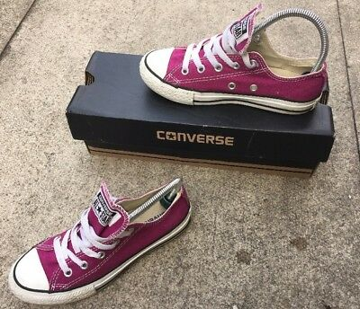 Converse  girl Purple  All Star Trainers Child Size 12