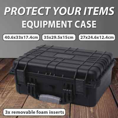 vidaXL Plastic Hard Travel Carry Storage Case Camera Protector Multi Sizes