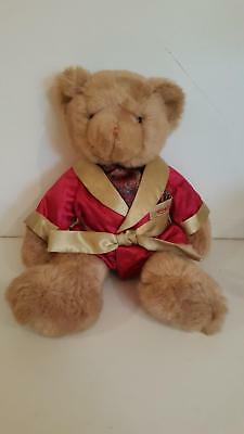 Aramis cologne 2002 plush teddy bear in red & gold robe, excellent condition