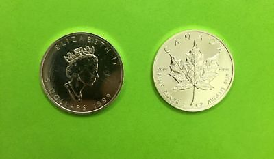 5 can-$  Maple Leaf 1999 Silber 1 Unze