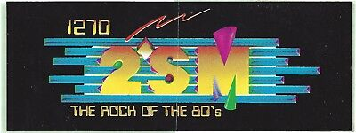1270 2Sm Rock Of The 80's Sydney Radio Station Sticker