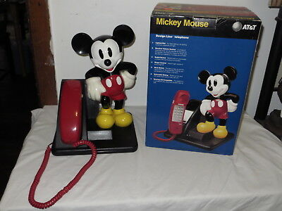 Walt Disney At & T Mickey Mouse Touch Tone Telephone W/ Box