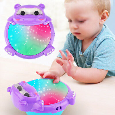 Musical Kids Drum Play Baby Child Colorful Lights Music Educational Toy Gift