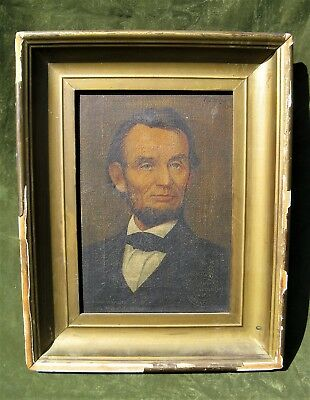 Abraham Lincoln Lithograph Painting Illinois Watch Company 1914 Advertising