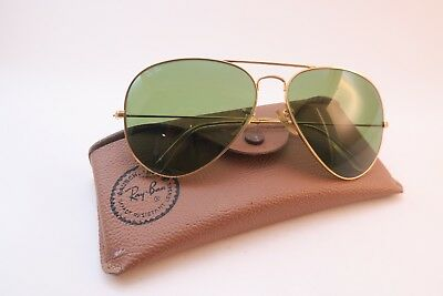 Vintage B&L Ray Ban aviator sunglasses 62-14 etched BL glass lens USA *****