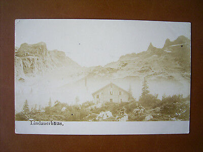 Foto-PK Lindauer Hütte im Montafon , ca.1900 , Photo Th.Immler,Bregenz sign.,TOP